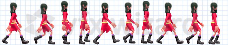 ciclo camminata personaggi maya